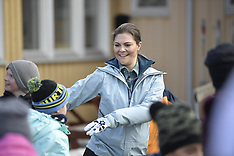 Crown Princess Victoria is seen dancing the Floss - 30 Mar 2019