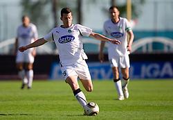 Anej Lovrecic of Olimpija during football match between NK Triglav Gorenjska and NK Olimpija in 27th Round of Slovenian 1st League PrvaLiga, on April 10, 2011 in Sports park Kranj, Slovenia. (Photo By Vid Ponikvar / Sportida.com)