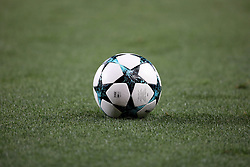 August 15, 2017 - Lisbon, Portugal - The Game ball is picture during the UEFA Champions League play-offs first leg football match between Sporting CP and FC Steaua Bucuresti at the Alvalade stadium in Lisbon, Portugal on August 15, 2017. (Credit Image: © Pedro Fiuza/NurPhoto via ZUMA Press)