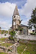 St. Matthews Anglican Church Nassau, Bahamas. St. Matthews is the oldest church in the Bahamas opened July 18th, 1802. The church's steeple along with its clock was erected in 1816 and for many years was the only reliable source of time on the Island.