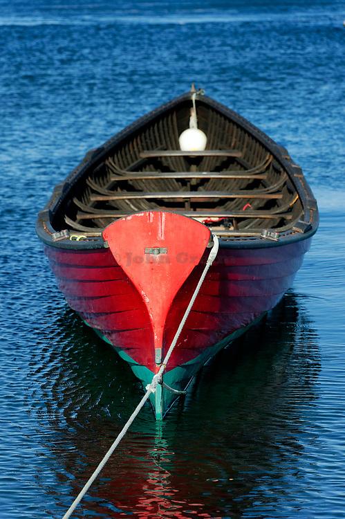 Antique wooden rowboat, Vineyard Haven, Martha's Vineyard, Massachusetts, USA