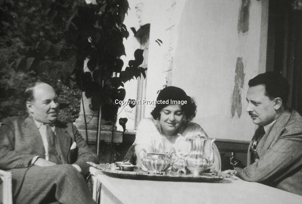 Andrè Pilar (a sinistra), Licy, Giuseppe Tomasi di Lampedusa (a destra)<br />archivio effigie