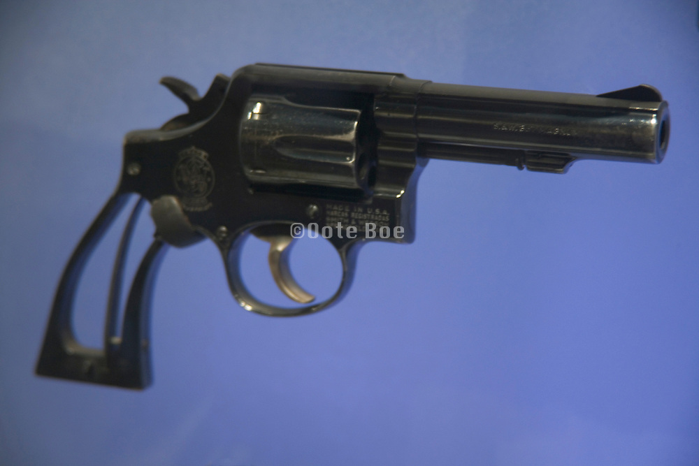 a displayed gun
