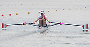 Poznan, POLAND, 21.06.19,  Friday,  CAN LW1X, Jill MOFFATT, at the start, orld Rowing Cup II, Malta Lake Course, © Peter SPURRIER/Inter, sport Images, <br /> <br /> 09:46:29