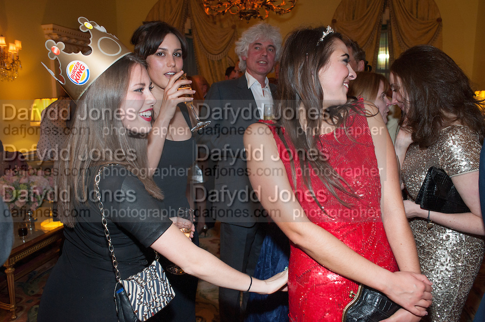 REBECCA HOFFNUNG; ; LILY ROBINSON; VIOLET HENDERSON, Tatler magazine Jubilee party with Thomas Pink. The Ritz, Piccadilly. London. 2 May 2012