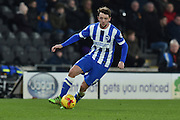 Brighton central midfielder, Dale Stephens (6) during the Sky Bet Championship match between Hull City and Brighton and Hove Albion at the KC Stadium, Kingston upon Hull, England on 16 February 2016. Photo by Ian Lyall.