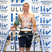 Turkish soccer club Fenerbahce new player Sweden's Samuel Holmen seen during their medical control at the Liv Hospital in Istanbul Turkey on Tuesday 18 June 2013. Samuel Holmen three-year contract signed with Fenerbahce after helth chech up in Istanbul. Photo by TURKPIX