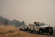 Larimer County Sheriff's Office firefighters enter Rocky Mountain National Park to work on the  East Troublesome Fire, October 24, 2020. © 2020 William A. Cotton