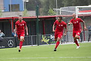 Halil Turan equalises of Northern Cyprus.Northern Cyprus 3 v Padania 2 during the Conifa Paddy Power World Football Cup semi finals on the 7th June 2018 at Carshalton Athletic Football Club in the United Kingdom. The CONIFA World Football Cup is an international football tournament organised by CONIFA, an umbrella association for states, minorities, stateless peoples and regions unaffiliated with FIFA.