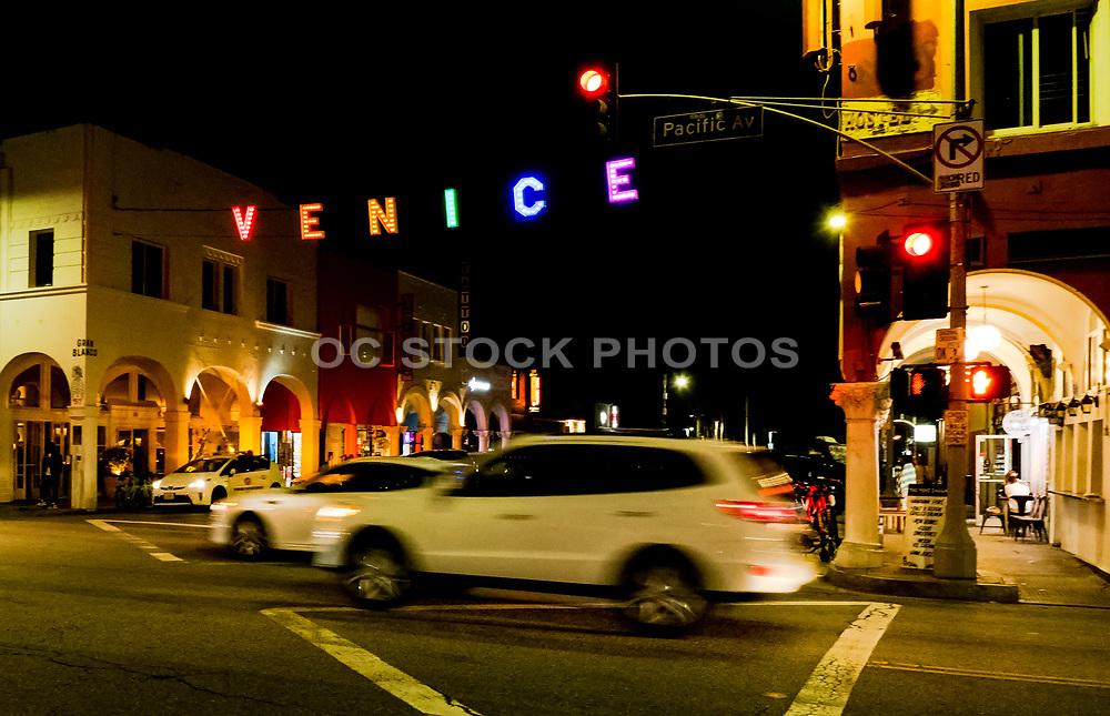 Venice Buzzing Beach Town at Night