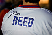 SHOT 12/10/17 12:59:50 PM - Former Buffalo Bills wide receiver and Hall of Fame player Andre Reed signs autographs and meets with fans at LoDo's Bar and Grill in Denver, Co. as the Buffalo Bills played the Indianapolis Colts that Sunday. Reed played wide receiver in the National Football League for 16 seasons, 15 with the Buffalo Bills and one with the Washington Redskins. (Photo by Marc Piscotty / © 2017)