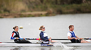 Caversham, GREAT BRITAIN, GB Mixed 4 left,  left to right Vicki HAINSFORD, Naomi RICHES and Alistair McKEAN,  Adaptive Rowing Media Day [athletes training for the Beijing Paralympics]02.04.2008  [Mandatory Credit, Peter Spurrier / Intersport-images Rowing course: GB Rowing Training Complex, Redgrave Pinsent Lake, Caversham, Reading