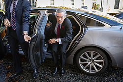 © Licensed to London News Pictures. 12/11/2018. London, UK. Former Prime Minister Gordon Brown arrives at the Institute for Government to make a speech on Brexit. Photo credit : Tom Nicholson/LNP