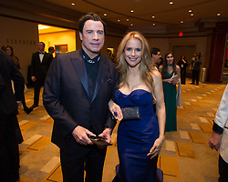 File photo - Oscar presenter John Travolta and actress Kelly Preston arrive for the live ABC Telecast of the 87th Oscars Academy Awards at the Dolby Theatre in Hollywood, Los Angeles, CA, USA on Sunday, February 22, 2015. Kelly Preston, the actress married to John Travolta, has died after a private battle with breast cancer, aged 57. The actress had been battling against breast cancer for two years, with a family representative confirming news of her passing to People today. Photo by A.M.P.A.S./ABACAPRESS.COM