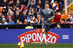 February 10, 2019 - Valencia, Spain - Javier Llorente  of Real Sociedad during  spanish La Liga match between Valencia CF v Real Sociedad at Mestalla Stadium on February 10, 2019. (Photo by Jose Miguel Fernandez/NurPhoto) (Credit Image: © Jose Miguel Fernandez/NurPhoto via ZUMA Press)