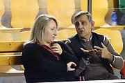 DESCRIZIONE : Roma Lega A 2013-2014 Acea Roma Pallacanestro Cantu<br /> GIOCATORE : Anna Cremascoli Claudio Toti<br /> CATEGORIA : pre game fair play<br /> SQUADRA : <br /> EVENTO : Roma Lega A 2013-2014 Acea Roma Pallacanestro Cantu<br /> GARA : Acea Roma Pallacanestro Cantu<br /> DATA : 03/11/2013<br /> SPORT : Pallacanestro <br /> AUTORE : Agenzia Ciamillo-Castoria/M.Simoni<br /> Galleria : Lega Basket A 2013-2014  <br /> Fotonotizia :Roma Lega A 2013-2014 Acea Roma Pallacanestro Cantu<br /> Predefinita :