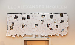 Alexander Mcqueen Tribute wall at the ISSA show as part of London Fashion Week 2010 held at Somerset House, The Strand, London on 23rd February 2010.