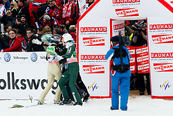 Team Slovenia during Flying Hill Team Final Round at 3rd day of FIS Ski Jumping World Cup Finals Planica 2011, on March 19, 2011, Planica, Slovenia. (Photo By Matic Klansek Velej / Sportida.com)
