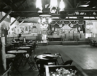 1943 Looking west at main room and bandstand at the Hollywood Canteen