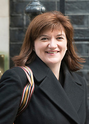 © Licensed to London News Pictures. 18/03/2015. Westminster, UK Nicky Morgan, Education Secretary,  leaves Downing Street on the day of the spring budget 2015. Photo credit : Stephen Simpson/LNP