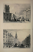 London King William Street [Top] Cheapside [Bottom] From the book Illustrated London, or a series of views in the British metropolis and its vicinity, engraved by Albert Henry Payne, from original drawings. The historical, topographical and miscellanious notices by Bicknell, W. I; Payne, A. H. (Albert Henry), 1812-1902 Published in London in 1846 by E.T. Brain & Co