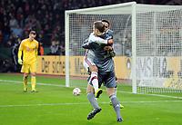 Fotball<br /> Tyskland<br /> 08.04.2015<br /> Foto: Witters/Digitalsport<br /> NORWAY ONLY<br /> <br /> Schlussjubel v.l. Torwart Manuel Neuer, Thiago Alcantara (Bayern)<br /> <br /> Fussball, DFB-Pokal, Viertelfinale, Bayer 04 Leverkusen - FC Bayern München 4:5 n.E.