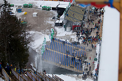 Spectators tribune during testing jumps at Ski jumping Flying Hill One day before FIS World Cup Ski Jumping Final Planica 2018, on March 21, 2018 in Ratece, Planica, Slovenia. Photo by Urban Urbanc / SportidaPlanica hill during testing jumps at Ski jumping Flying Hill One day before FIS World Cup Ski Jumping Final Planica 2018, on March 21, 2018 in Ratece, Planica, Slovenia. Photo by Urban Urbanc / Sportida