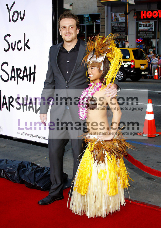 """Jason Segel attends the World Premiere of """"Forgetting Sarah Marshall"""" held at the Grauman's Chinese Theater in Hollywood, California, United States on April 10, 2008."""
