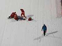 Hopp<br /> FIS World Cup<br /> Bischofshofen Østerrike<br /> 05.01.2015<br /> Foto: Gepa/Digitalsport<br /> NORWAY ONLY<br /> <br /> FIS World Cup, Four Hills Tournament, large hill, men, training and qualification. Image shows Nicholas Fairall (USA).