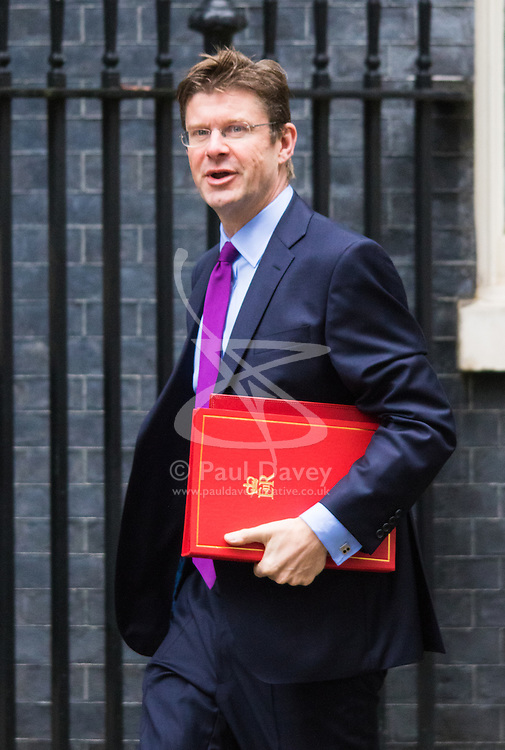 Downing Street, London, September 15th 2015.  Communities Secretary Greg Clark arrives at 10 Downing Street to attend the weekly cabinet meeting