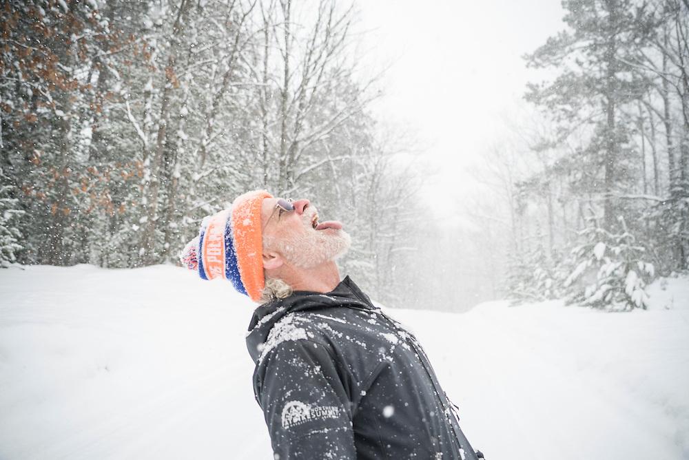Marquette, Michigan mountain bike trail builder and snow bike trail groomer Peter Zenti.