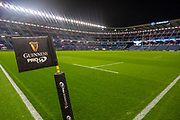 General view inside BT Murrayfield, Edinburgh, Scotland before the Guinness Pro 14 2019_20 match between Edinburgh Rugby and Connacht Rugby on 21 February 2020.
