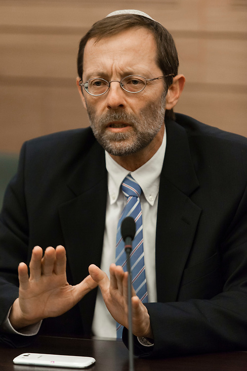 Israeli lawmaker, Knesset member Moshe Feiglin attends a session of the Internal Affairs and Environment Committee at the Knesset, Israel's parliament in Jerusalem, on April 17, 2013.