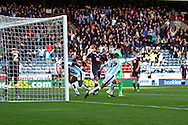 Harry Bunn of Huddersfield town reels away to celebrate after he scores his teams 1st goal. Skybet football league Championship match, Huddersfield Town v Derby county at the John Smith's Stadium in Huddersfield , Yorkshire on Saturday 24th October 2015.<br /> pic by Chris Stading, Andrew Orchard sports photography.