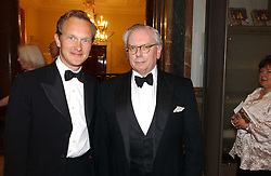 Left to right, DR SIMON THURLEY and DR DAVID STARKEY at The Royal Academy dinner before the official opening of the Summer Exhibition held at the Royal Academy of Art, Burlington House, Piccadilly, London W1 on 6th June 2006.<br /><br />NON EXCLUSIVE - WORLD RIGHTS
