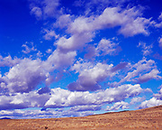 Cumulus clouds above the Picabo Desert, Idaho.