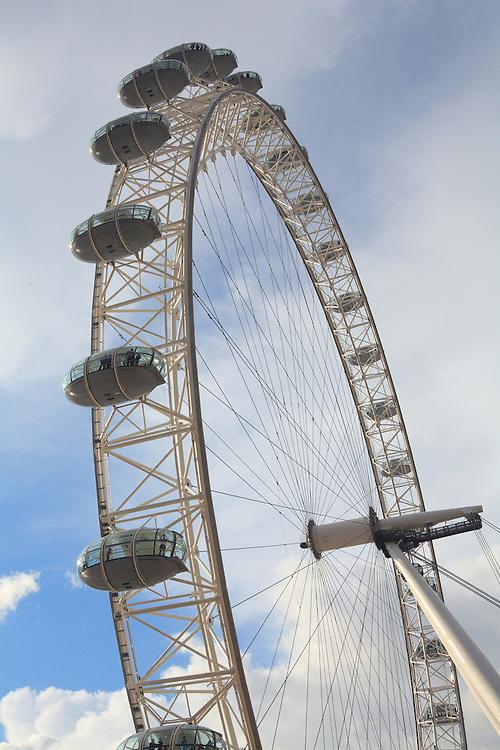 London Eye Mixed Clouds - London, UK