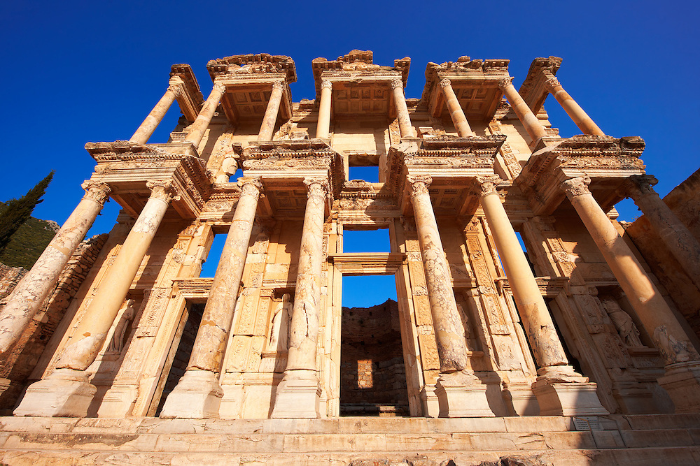 Picture of The library of Celsus. Images of the Roman ruins of Ephasus, Turkey. Stock Picture & Photo art prints 5 .<br /> <br /> If you prefer to buy from our ALAMY PHOTO LIBRARY  Collection visit : https://www.alamy.com/portfolio/paul-williams-funkystock/ephesus-celsus-library-turkey.html<br /> <br /> Visit our TURKEY PHOTO COLLECTIONS for more photos to download or buy as wall art prints https://funkystock.photoshelter.com/gallery-collection/3f-Pictures-of-Turkey-Turkey-Photos-Images-Fotos/C0000U.hJWkZxAbg