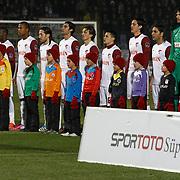 SB Elazigspor's players during their Turkish Superleague soccer match SB Elazigspor between Besiktas at the Ataturk Stadium in Elazig Turkey on Saturday, 09 February 2013. Photo by Aykut AKICI/TURKPIX