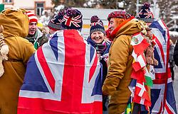 """29.01.2019, Planai, Schladming, AUT, FIS Weltcup Ski Alpin, Slalom, Herren, im Bild Britische Fans vor dem Skirennen von Schladming // British fans before the ski race in Schladming before the men's Slalom """"the Nightrace"""" of FIS ski alpine world cup at the Planai in Schladming, Austria on 2019/01/29. EXPA Pictures © 2019, PhotoCredit: EXPA/ Stefanie Oberhauser"""