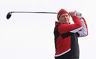 Leonard Owens (Dublin) on the 1st tee during the PGA Winter Series Southern Branch in Rush Golf Club on Friday 20th March 2015.<br /> Picture:  Thos Caffrey / www.golffile.ie