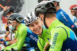 POGACAR Tadej of Slovenia and POLANC Jan of Slovenia during Men Elite Road Race at UCI Road World Championship 2020, on September 27, 2020 in Imola, Italy. Photo by Vid Ponikvar / Sportida