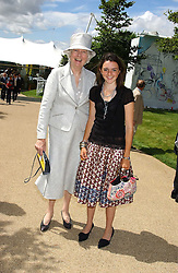 Left to right, BRONWEN, VISCOUNTESS ASTOR and VIOLET ELLIOT at the 4th dfay of the 2005 Glorious Goodwood horseracing festival at Goodwood Racecourse, West Sussex on 29th July 2005.    <br /><br />NON EXCLUSIVE - WORLD RIGHTS