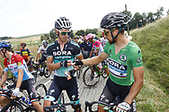 Maciej Bodnar (POL - Bora - Hansgrohe), Peter Sagan (SVK - Bora - Hansgrohe) green jersey during the 105th Tour de France 2018, Stage 16, Carcassonne - Bagneres de Luchon (218 km) on July 24th, 2018 - Photo Luca Bettini / BettiniPhoto / ProSportsImages / DPPI