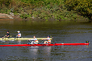 Chiswick, Greater London, UK., 11th October 2020, General View, Pairs Head of the River Race,  Tideway Scullers Schools'Doubles fight it out, Restricted entry and Shortened Course, COVID-19,  Barnes Bridge and Dukes Meadows location, [Mandatory Credit: Peter Spurrier/Intersport Images]