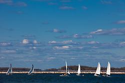 sailboats on the bay in Sag Harbor, NY