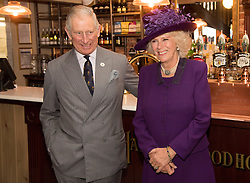 The Prince of Wales and the Duchess of Cornwall officially open the Duchess of Cornwall Inn during a visit to Poundbury, a new urban development on the edge of Dorchester.
