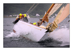 Day four of the Fife Regatta, race from Tighnabruaich to Portavadie<br /> <br /> Solway Maid, Roger Sandiford, GBR, Bermudan Cutter, Wm Fife 3rd, 1940<br /> * The William Fife designed Yachts return to the birthplace of these historic yachts, the Scotland's pre-eminent yacht designer and builder for the 4th Fife Regatta on the Clyde 28th June–5th July 2013<br /> <br /> More information is available on the website: www.fiferegatta.com