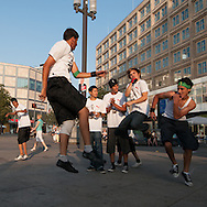 Exhibition of a local hip-hop group at Alexanderplatz