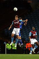 Photo: Mark Stephenson.<br /> Aston Villa v Leicester City. Carling Cup. 26/09/2007.Villa's Stiliyan Petrov wins the ball
